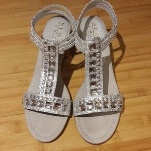 New York Transit, Rhinestones Womens Sandals